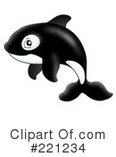 Royalty-Free (RF) orca Clipart Illustration #221234