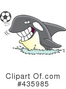 Royalty-Free (RF) Orca Clipart Illustration #435985
