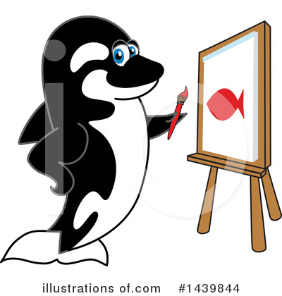 Orca Mascot Clipart #1439844 by Toons4Biz
