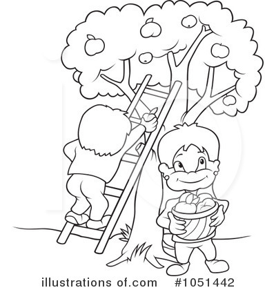 Apple Orchard Coloring Coloring Page Coloring Pages