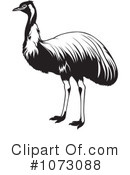 Royalty-Free (RF) Ostrich Clipart Illustration #1073088