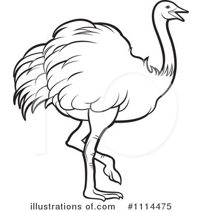 Royalty-Free (RF) Ostrich Clipart Illustration by Lal Perera - Stock ...