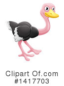 Royalty-Free (RF) Ostrich Clipart Illustration #1417703