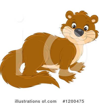 Otter Clipart #1200475 by Alex Bannykh
