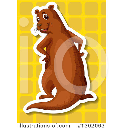 Otter Clipart #1302063 by Graphics RF