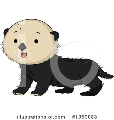 Otter Clipart #1359083 by BNP Design Studio