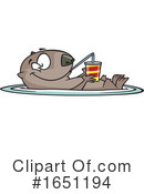 Otter Clipart #1651194 by toonaday