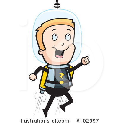 Astronaut Clipart #102997 by Cory Thoman