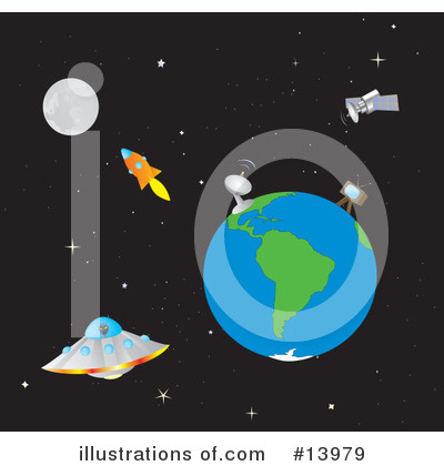 Royalty-Free (RF) Outer Space Clipart Illustration by Rasmussen Images - Stock Sample #13979
