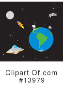 Royalty-Free (RF) Outer Space Clipart Illustration #13979