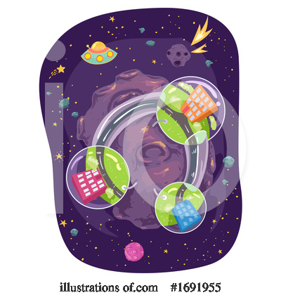 Royalty-Free (RF) Outer Space Clipart Illustration by BNP Design Studio - Stock Sample #1691955