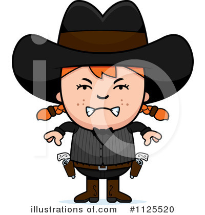 Cowgirl Clipart #1125520 by Cory Thoman