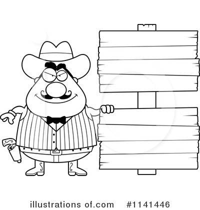 Outlaw Clipart #1141446 - Illustration by Cory Thoman