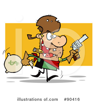 Royalty-Free (RF) Outlaw Clipart Illustration by Hit Toon - Stock Sample #90416