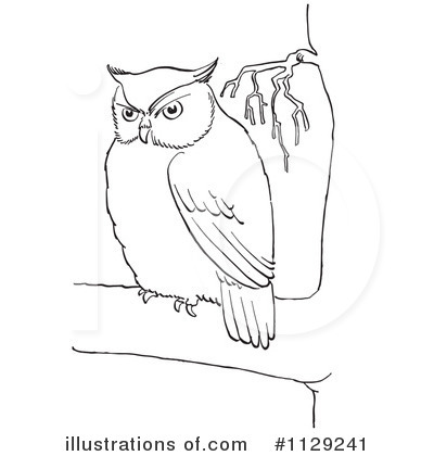 Royalty-Free (RF) Owl Clipart Illustration by Picsburg - Stock Sample #1129241