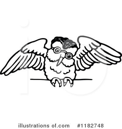 Royalty-Free (RF) Owl Clipart Illustration by Prawny - Stock Sample #1182748