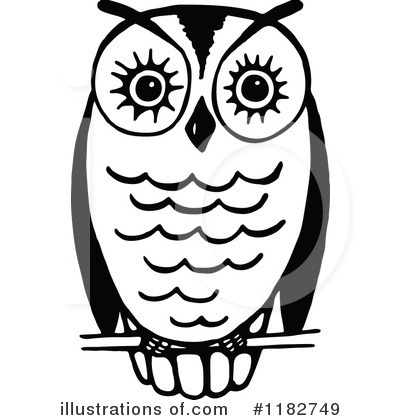 Royalty-Free (RF) Owl Clipart Illustration by Prawny - Stock Sample #1182749