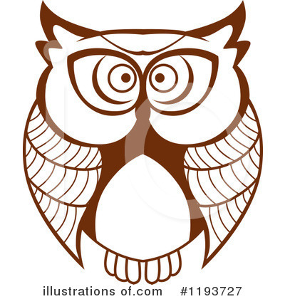 Owl Clipart #1193727 by Vector Tradition SM