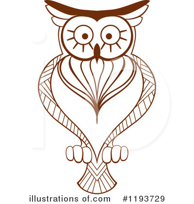 Owl Clipart #1193729 by Vector Tradition SM