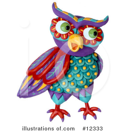 Royalty-Free (RF) Owl Clipart Illustration by Amy Vangsgard - Stock Sample #12333