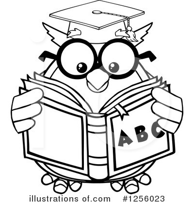 Reading Clipart #1256023 by Hit Toon