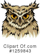 Royalty-Free (RF) Owl Clipart Illustration #1259843