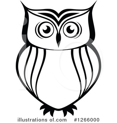 owl clipart 1266000 illustration by vector tradition sm Owl Clip Art Black and White Pattern owl clipart black and white images