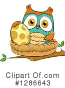 Royalty-Free (RF) Owl Clipart Illustration #1286643