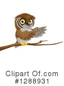 Owl Clipart #1288931 by AtStockIllustration