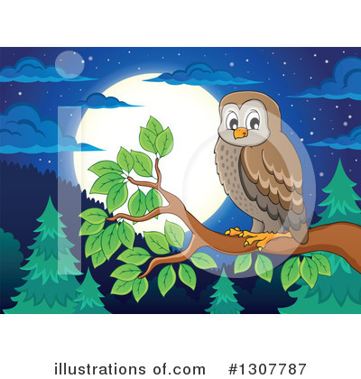 Forest Animals Clipart #1307787 by visekart