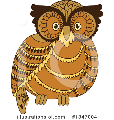 Royalty-Free (RF) Owl Clipart Illustration by Vector Tradition SM - Stock Sample #1347004