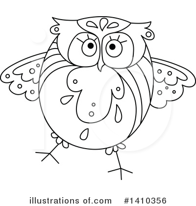 Owl Clipart #1410356 by Vector Tradition SM