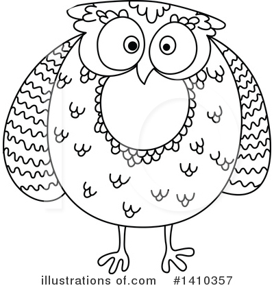 Royalty-Free (RF) Owl Clipart Illustration by Vector Tradition SM - Stock Sample #1410357