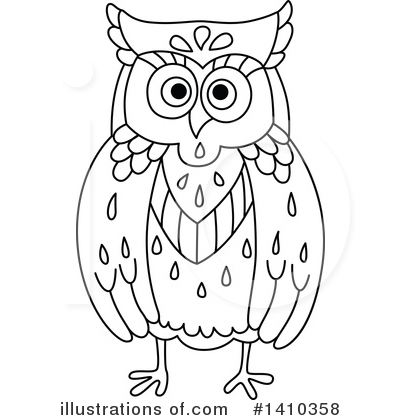 Owl Clipart #1410358 by Vector Tradition SM
