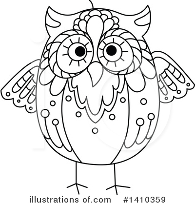 Owl Clipart #1410359 by Vector Tradition SM