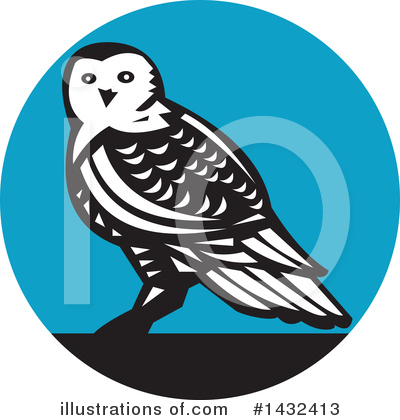 Royalty-Free (RF) Owl Clipart Illustration by patrimonio - Stock Sample #1432413