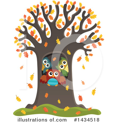 Royalty-Free (RF) Owl Clipart Illustration by visekart - Stock Sample #1434518