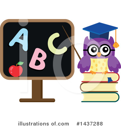Professor Owl Clipart #1437288 by visekart