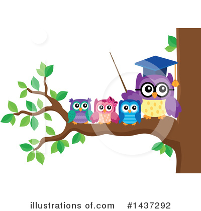 Professor Owl Clipart #1437292 by visekart