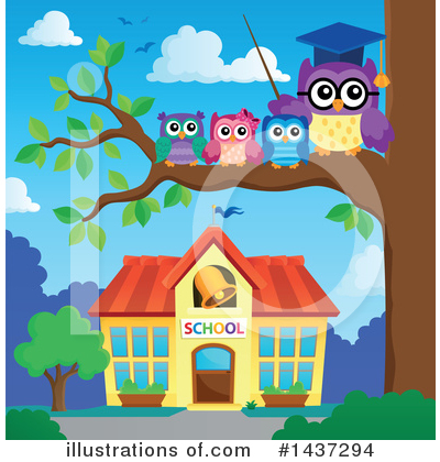 Professor Owl Clipart #1437294 by visekart