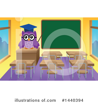 Royalty-Free (RF) Owl Clipart Illustration by visekart - Stock Sample #1440394