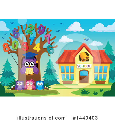 Royalty-Free (RF) Owl Clipart Illustration by visekart - Stock Sample #1440403