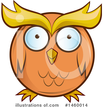 Owl Clipart #1460014 by Domenico Condello