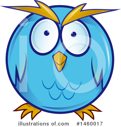 Owl Clipart #1460017 by Domenico Condello
