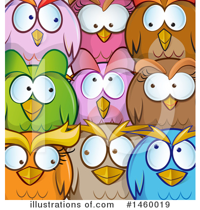 Owl Clipart #1460019 by Domenico Condello