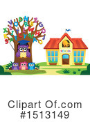 Royalty-Free (RF) Owl Clipart Illustration #1513149