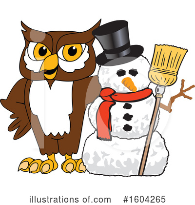Royalty-Free (RF) Owl Clipart Illustration by Toons4Biz - Stock Sample #1604265