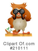 Royalty-Free (RF) owl Clipart Illustration #210111