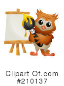 Royalty-Free (RF) Owl Clipart Illustration #210137