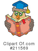 Royalty-Free (RF) Owl Clipart Illustration #211569